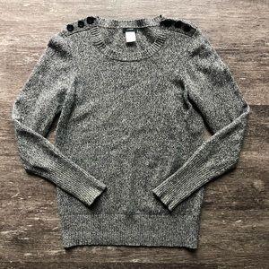 J Crew wool button shoulder sweater